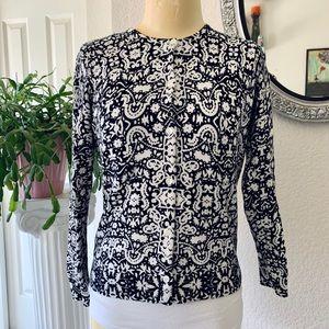 Croft & Barrow cardigan black/white sweater